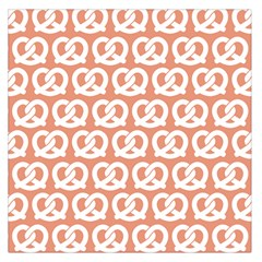 Salmon Pretzel Illustrations Pattern Large Satin Scarf (square) by creativemom