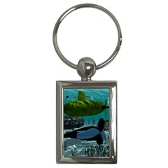 Submarine With Orca Key Chains (rectangle)  by FantasyWorld7