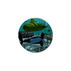 Submarine With Orca Golf Ball Marker (4 pack) by FantasyWorld7
