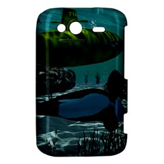 Submarine With Orca HTC Wildfire S A510e Hardshell Case by FantasyWorld7