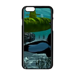 Submarine With Orca Apple Iphone 6/6s Black Enamel Case by FantasyWorld7