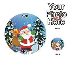 Funny Santa Claus In The Forrest Playing Cards 54 (round)