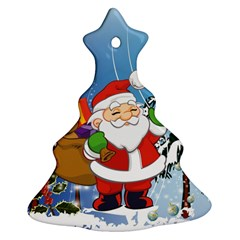 Funny Santa Claus In The Forrest Ornament (christmas Tree)