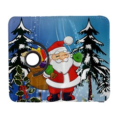 Funny Santa Claus In The Forrest Samsung Galaxy S  Iii Flip 360 Case by FantasyWorld7