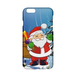 Funny Santa Claus In The Forrest Apple Iphone 6/6s Hardshell Case by FantasyWorld7