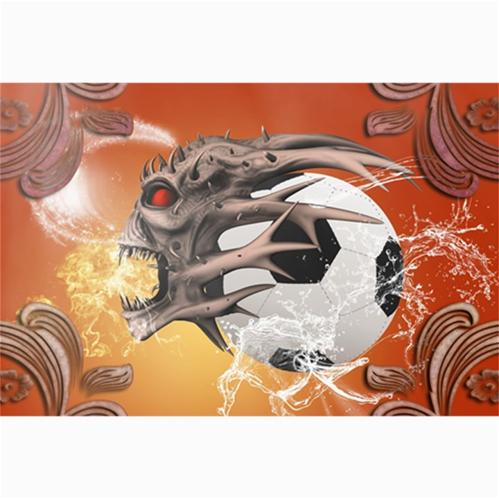 Soccer With Skull And Fire And Water Splash Collage 12  x 18