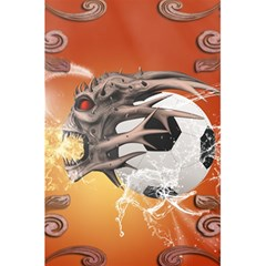 Soccer With Skull And Fire And Water Splash 5 5  X 8 5  Notebooks by FantasyWorld7