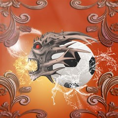 Soccer With Skull And Fire And Water Splash Magic Photo Cubes by FantasyWorld7
