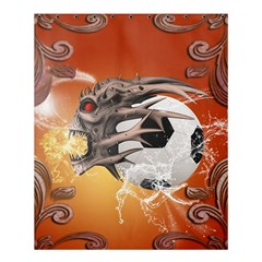 Soccer With Skull And Fire And Water Splash Shower Curtain 60  X 72  (medium)  by FantasyWorld7