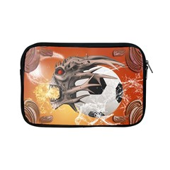 Soccer With Skull And Fire And Water Splash Apple Ipad Mini Zipper Cases by FantasyWorld7