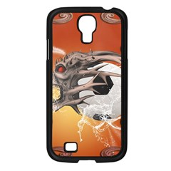 Soccer With Skull And Fire And Water Splash Samsung Galaxy S4 I9500/ I9505 Case (black) by FantasyWorld7