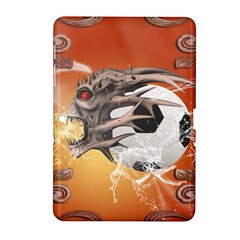 Soccer With Skull And Fire And Water Splash Samsung Galaxy Tab 2 (10 1 ) P5100 Hardshell Case  by FantasyWorld7