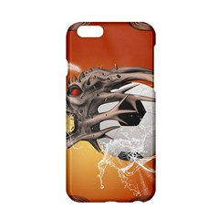 Soccer With Skull And Fire And Water Splash Apple Iphone 6/6s Hardshell Case by FantasyWorld7