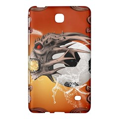 Soccer With Skull And Fire And Water Splash Samsung Galaxy Tab 4 (7 ) Hardshell Case  by FantasyWorld7