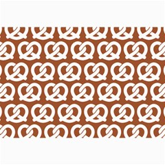 Brown Pretzel Illustrations Pattern Collage 12  X 18