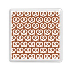 Brown Pretzel Illustrations Pattern Memory Card Reader (square)  by creativemom