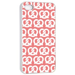 Chic Pretzel Illustrations Pattern Apple Iphone 4/4s Seamless Case (white) by creativemom