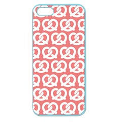 Chic Pretzel Illustrations Pattern Apple Seamless Iphone 5 Case (color) by creativemom