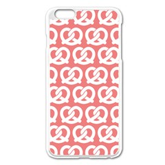 Chic Pretzel Illustrations Pattern Apple iPhone 6 Plus/6S Plus Enamel White Case by creativemom