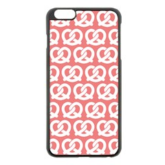 Chic Pretzel Illustrations Pattern Apple Iphone 6 Plus/6s Plus Black Enamel Case by creativemom