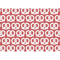 Trendy Pretzel Illustrations Pattern Birthday Cake 3d Greeting Card (7x5)