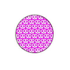 Pink Pretzel Illustrations Pattern Hat Clip Ball Marker (10 Pack) by creativemom