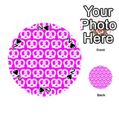 Pink Pretzel Illustrations Pattern Playing Cards 54 (round)