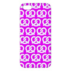 Pink Pretzel Illustrations Pattern iPhone 5S Premium Hardshell Case by creativemom