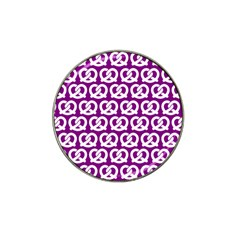 Purple Pretzel Illustrations Pattern Hat Clip Ball Marker (4 Pack) by creativemom