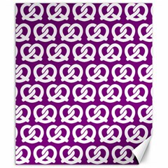 Purple Pretzel Illustrations Pattern Canvas 20  X 24   by creativemom
