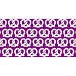 Purple Pretzel Illustrations Pattern Laugh Live Love 3D Greeting Card (8x4)  Front