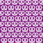 Purple Pretzel Illustrations Pattern Laugh Live Love 3D Greeting Card (8x4)  Inside