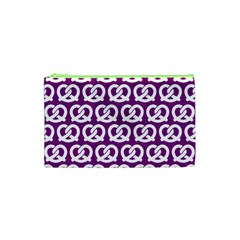 Purple Pretzel Illustrations Pattern Cosmetic Bag (xs) by creativemom