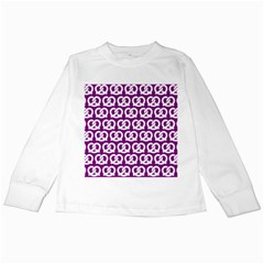 Purple Pretzel Illustrations Pattern Kids Long Sleeve T Shirts by creativemom