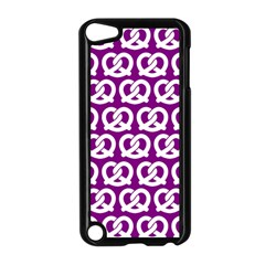 Purple Pretzel Illustrations Pattern Apple Ipod Touch 5 Case (black) by creativemom