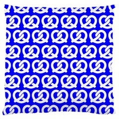 Blue Pretzel Illustrations Pattern Large Cushion Cases (two Sides)  by creativemom