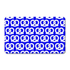 Blue Pretzel Illustrations Pattern Magnet (Rectangular) by creativemom