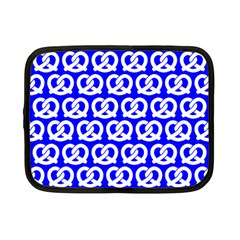 Blue Pretzel Illustrations Pattern Netbook Case (small)  by creativemom