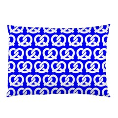 Blue Pretzel Illustrations Pattern Pillow Cases by creativemom