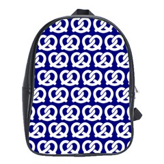 Navy Pretzel Illustrations Pattern School Bags (XL)  by creativemom