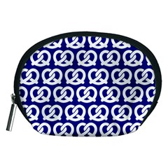 Navy Pretzel Illustrations Pattern Accessory Pouches (Medium)  by creativemom