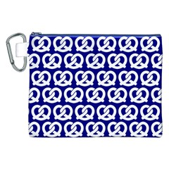 Navy Pretzel Illustrations Pattern Canvas Cosmetic Bag (XXL)  by creativemom