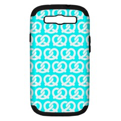 Aqua Pretzel Illustrations Pattern Samsung Galaxy S Iii Hardshell Case (pc+silicone) by creativemom