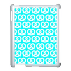 Aqua Pretzel Illustrations Pattern Apple Ipad 3/4 Case (white) by creativemom