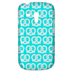 Aqua Pretzel Illustrations Pattern Samsung Galaxy S3 Mini I8190 Hardshell Case by creativemom