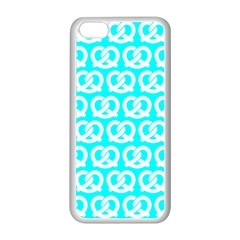 Aqua Pretzel Illustrations Pattern Apple Iphone 5c Seamless Case (white) by creativemom