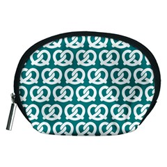 Teal Pretzel Illustrations Pattern Accessory Pouches (medium)  by creativemom