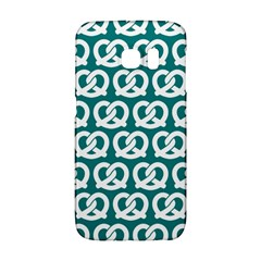 Teal Pretzel Illustrations Pattern Galaxy S6 Edge by creativemom