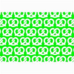 Neon Green Pretzel Illustrations Pattern Collage 12  X 18