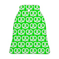 Neon Green Pretzel Illustrations Pattern Bell Ornament (2 Sides) by creativemom